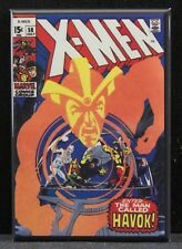 "X-Men #58 Comic Book Cover 2"" X 3""Fridge Magnet. Havok"