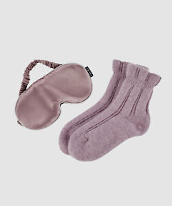 $50 Falke Women's Pink Gift 1-Pair Silk Eye Mask Cashmere Ankle Socks US Size S