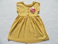 Hanna Andersson 100 110 120 130 140 Dress Daydress Yellow Stripes Cotton NEW NWT