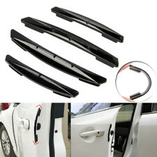 4pcs Universal PVC Black Car Door Edge Trim Anti-Scratch Protector Cover Guards