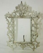 Picture Frame Antique Victorian Ornate Cast Metal Easel Back Farm House Decor