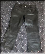 Ralph Lauren Polo Black Lambskin Leather Pants Size Large 10 12 L