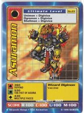 TOEI DIGIMON 5 CARD LOT - DIGI-BATTLE SERIES 1 - Bo-24 ASURAMON + 4 COMMON CARDS