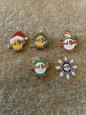 Hard Rock Cafe Lot Of 5 92 To 95 And 97 Xmas Pin Rare Le Free S&h
