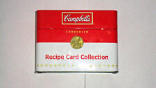 Cambell's Recipe Card Collection Flip Top Tin w/Recipes, Dividers & Blank Cards