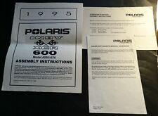 New listing 1995 Polaris Snowmobile Indy Xcr 600 Assembly Instructions Manual (613)