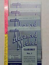Rubank Advanced Method Educational Library Clarinet Saxophone Lot Of 4