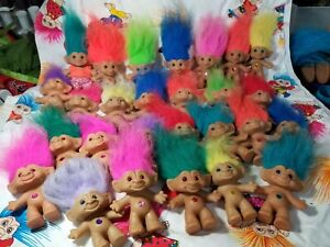 """Lot of 27 Ace Treasure Troll Dolls 3 to 4 """" Lot Mixed"""