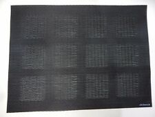 CHILEWICH 4 pc SET TABLE MATS 19 x 14 Placemat BLACK Engineered Squares Steel