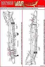 Kits World Decals 1/48 MCDONNELL F-4 PHANTOM II STENCILS SET