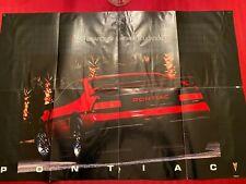 PONTIAC FIERO GT RED  POSTER 22 X 32 inch RARE NY Autoshow