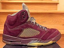 "2006 Nike Air Jordan 5 Retro LS ""Burgundy"" Suede/3M  Size 13 Shoes (314259-602)"
