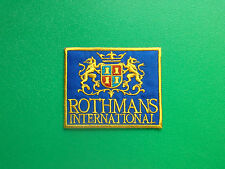 MOTOR RACING OILS, FUELS & TYRES SEW ON / IRON ON PATCH:- ROTHMANS (a) RACING