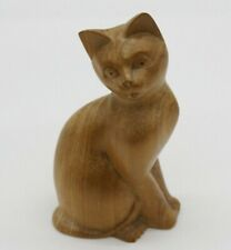 Delightful. Pretty hand carved model of a cat. 15h x 8w x 5l cm.