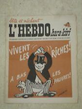 L'HEBDO HARA-KIRI n°21- 23/06/1969