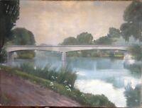 Ponte circa una Fiume ° Calcestruzzo 1939 R. Hellwig Autografato Antico Riva