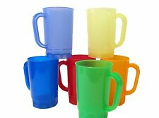12  1 Pint  Beer Mugs-Steins Mix of 6 Translucent Colors Made in USA Lead Free*