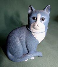 Katzenminiatur aus England; MILLAND von 1986; Zinn bemahlt;