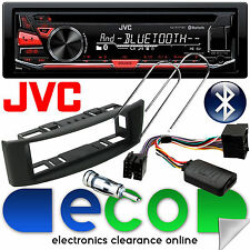 Renault Scenic 96-03 JVC Bluetooth CD Car Stereo & GREY Facia Steering Wheel Kit