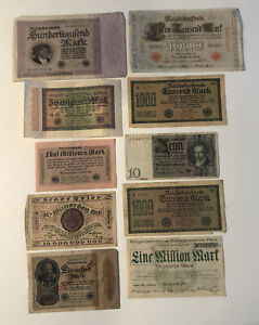 Set Of 10 Tickets Bank Germany REF64786