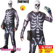 Mens Fortnite Skull Trooper Costume Licensed Adults Skeleton Rubie's Jumpsuit