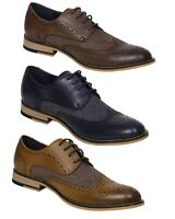 Men's Italian Formal Shoes Horatio Smart Couture Real Leather Lace Up Brouges