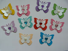 10 X Large self adhesive 3 D paper card butterflies assorted ( or any)colors new
