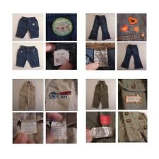 2 salopettes 2 pantalons fille garçon enfant jean BABY BALL TEX COMPLICES N3353