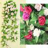 Rose Flower Artificial Ivy Leaf Garland Plant Vine Fake Foliage Home Decor Craft