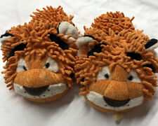 NWT Tiger Animal Fluffy Slippers Adult M-L