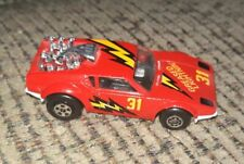 1975 Matchbox Superfast Red De Tomaso Pantera Greased Lightnin # 31