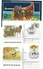 """TOPIC:  """"HORSES"""" 9 diff. postal items (covers etc) / mint+used / 1943-1996"""