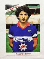 FOTO CARTOLINA ALESSANDRO BERTONI FIORENTINA 1983 OPEL +AUTOGRAFO STAMPATO CARD
