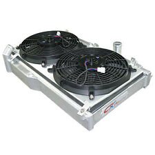 CXRacing Radiator with Fans + Shroud for Mazda RX-7 RX7 FD3S Manual Transmission