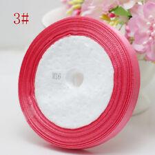 "Free Shipping wedding festival 25 Yards 3/8"" 10mm Craft Satin Ribbon rose red"