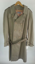 Vintage Simpsons Trench Coat 42 Tall T-42 Khaki Mens Double Breasted Belted