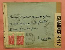 1940 FRENCH CAMEROON BONABERI TO FRANCE WWII CENSOR