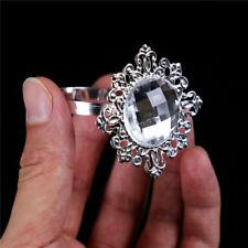 12pcs Silver Napkin Ring Serviette Holder Wedding Banquet Dinner Table Decor GY