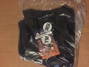 Akadema SMESH.BLK-YM Sport Shorts color BLACK  size YM - Youth Medium - New