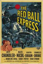 RED BALL EXPRESS Movie POSTER 27x40 Jeff Chandler Alex Nicol Sidney Poitier