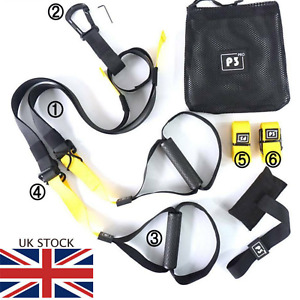 Home Suspension Trainer Fitness Straps Gym Resistance Band Training TRX Style UK