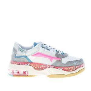 PREMIATA scarpe donna Sneaker Draked 037 in pelle camoscio e tessuto multicolore