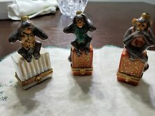 "Limoges 3 Boxset Monkeys ""Hear No Evil See No Evil Speak No Evil"" 3 Wise Monkey"