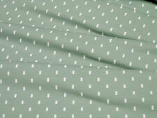Jersey Stenzo small rectangle on dark mint cotton knit fabric 0.54yd (0.5m)