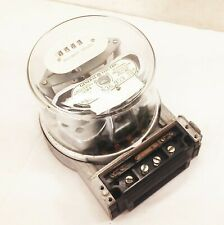 Vtg Ge Electric Utility Usage Meter Kw Analog Dial 240v 15 Amp Glass Globe