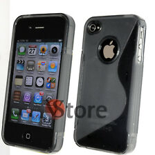 Cover Case Gel Silicone Grey S-LINE for Apple IPHONE 4/4G/4S