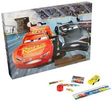 Disney Pixar Cars 3 Boys Advent Calendar Puzzle Eraser Stickers Stamps Kids gift