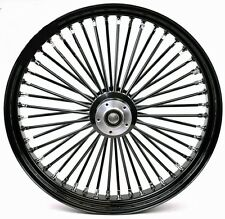 "FAT SPOKE 23"" BIG WHEEL FRONT BLACK 23"" HARLEY ELECTRA GLIDE ROAD KING STREET"