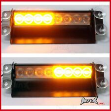 Window Windscreen Mount Portable Flashing Amber Caution 12 Volt Light Bar