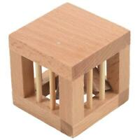 Square Mysterious Wooden Classic Genius Puzzles 3D Disentanglement PuzzlesTo 4H6